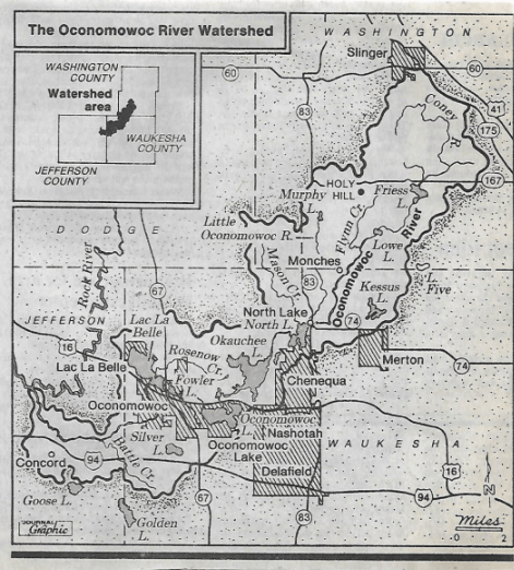 Oconomowoc River Watershed circa 1986.