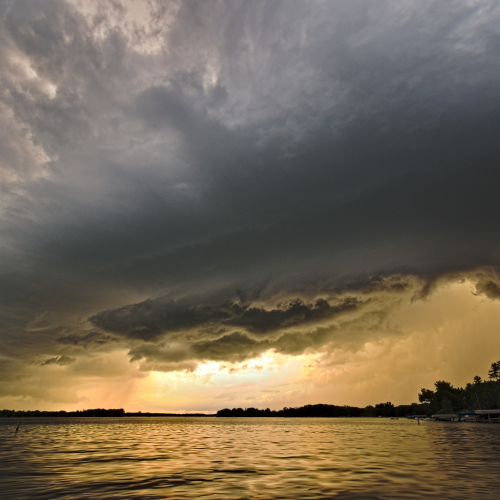 Stunning Clouds over the Lac La Belle - Photo Courtesy of Charlie Bourdo!