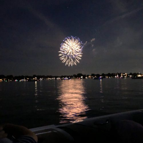 Nothing Better Than Fireworks From A Boat On Lac La Belle!