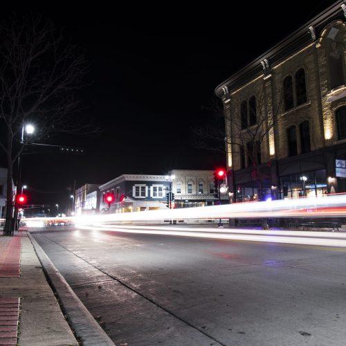 Main Street Oconomowoc Whizzing By! - courtesy of Charlie Bourdo