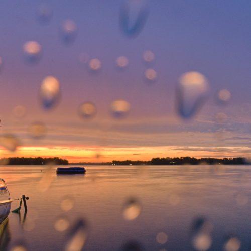 Rainy Lac La Belle Sunset - Courtesy of Charlie Bourdo